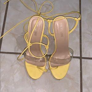 Public Desire Yellow Heels